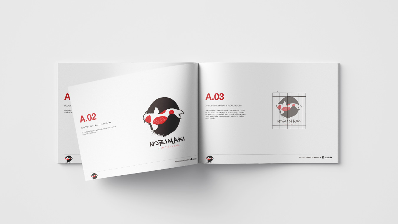 2 h diseno logotipo imagen corporativa norimaki