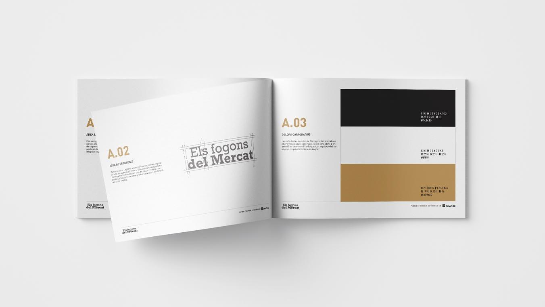 5 v diseno grafico branding identidad corporativa logotipo els fogons mercat