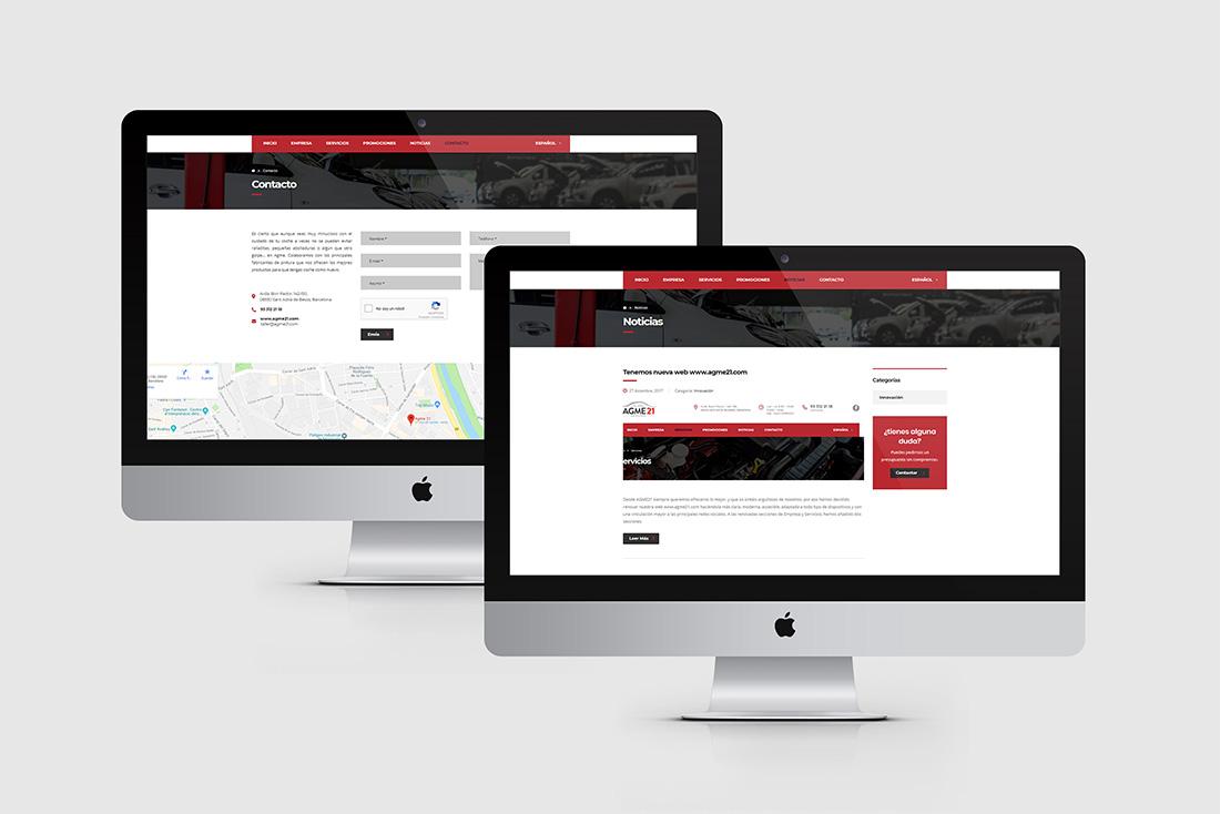 6 diseno grafico desarrollo web agme21 noticias contacto