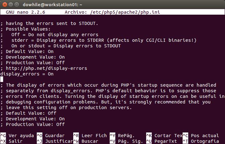 Edita el fichero PHP.ini