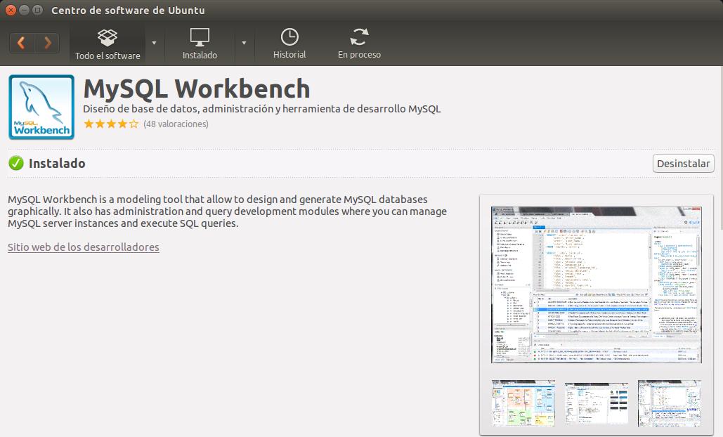 Instala MySQL Workbench